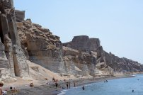 santorini, sea, beach